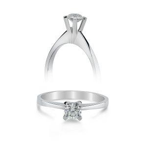 Solitaire Diamond Ring 0,19 Carat - STT557