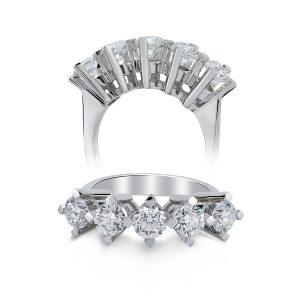 Five Stoned Diamond Ring 0,65 Carat - SPR22179