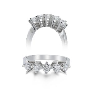 Five Stoned Diamond Ring 0,35 Carat - SPR29669