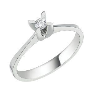 Solitaire Diamond Ring 0,19 Carat - STT54