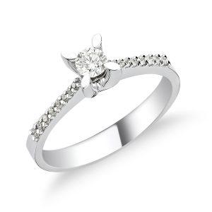 Solitaire Diamond Ring 0,18 Carat - SPR35538