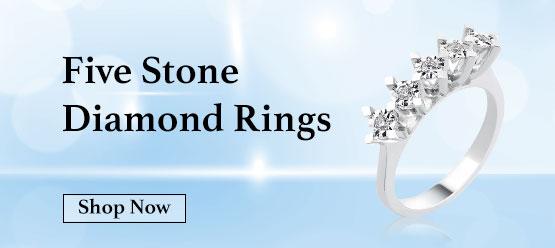 five stone diamond rings