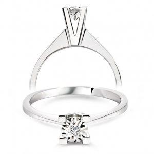 Efect Solitaire Diamond Ring 0,02 Carat - PIR25833