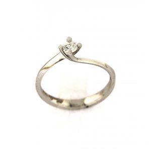 Vintage Solitaire Diamond Ring 0.17 Carat - APR29485