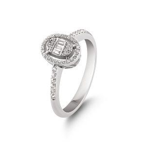 Baguette Diamond Ring 0,22 Carat - BGT5155